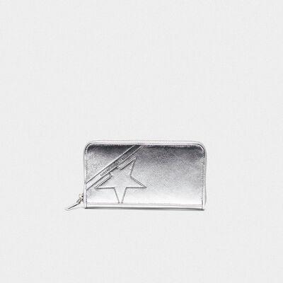 Portafoglio Star Wallet large argentato