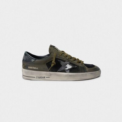 Military green and black Stardan sneakers