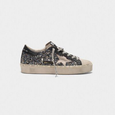 Sneakers Hi-Star en paillettes et cuir velours