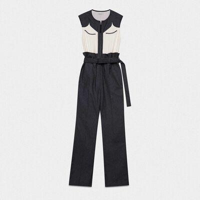 Jocelyn jumpsuit in tailoring denim