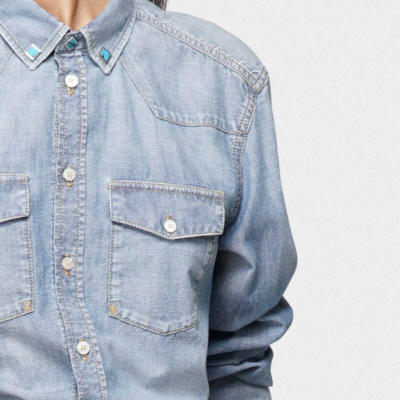 Golden Goose - Meredith shirt in cotton denim in  image number null