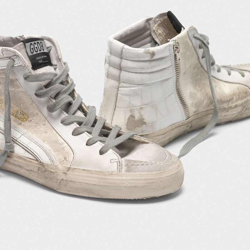 Golden Goose - White patchwork shades Slide sneakers in  image number null