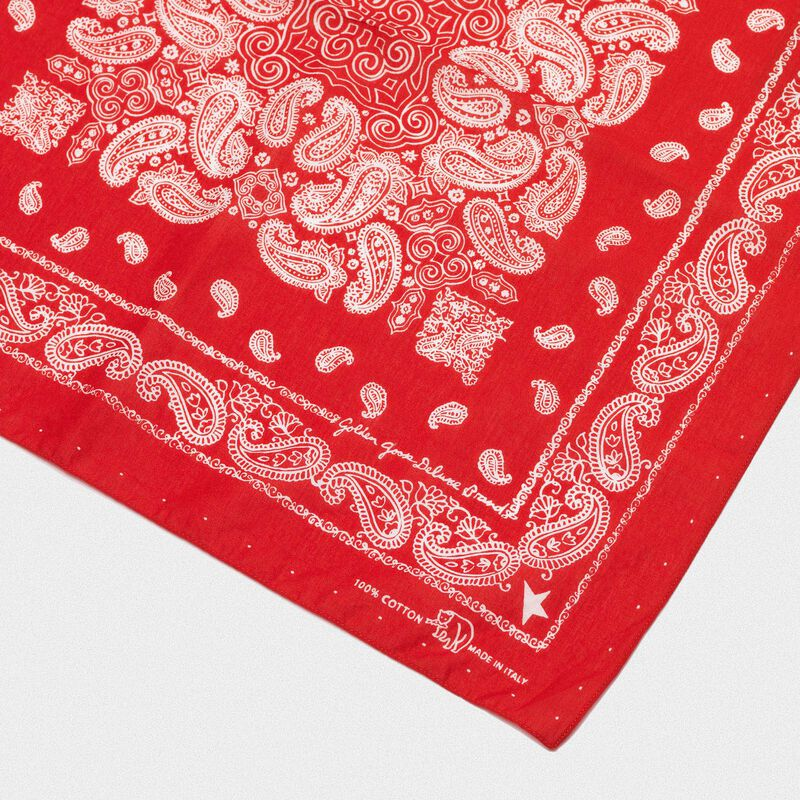 Golden Goose - Cotton Jiro bandana with paisley pattern in  image number null