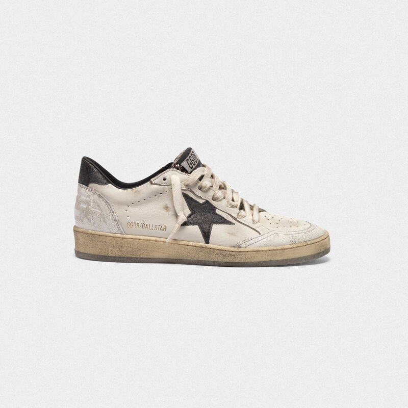 Golden Goose - Sneakers Ball Star con linguetta in glitter in  image number null