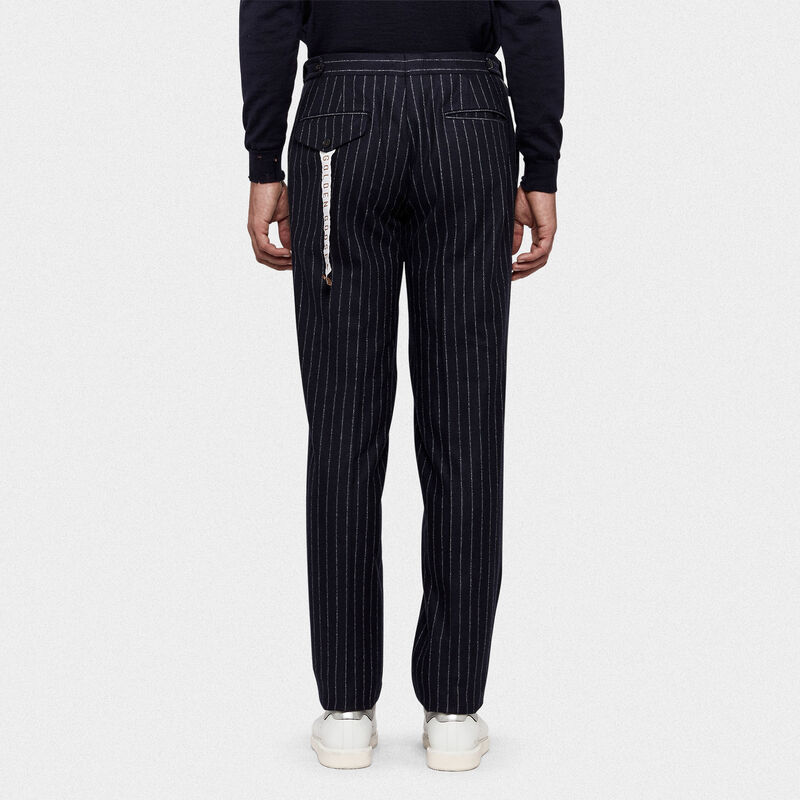 Golden Goose - Seiji trousers in wool with adjustable waist in  image number null