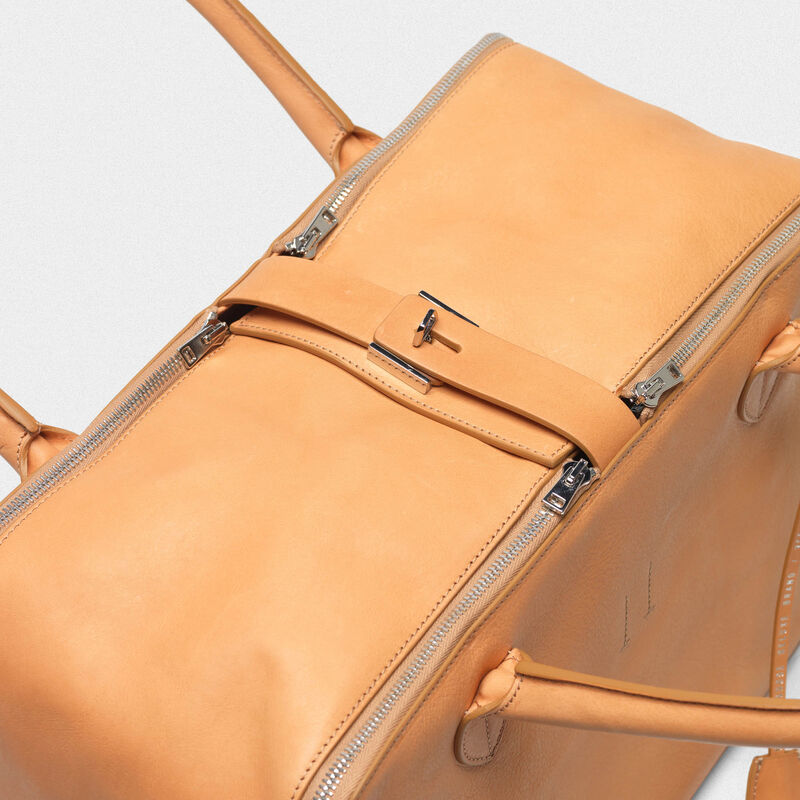 Golden Goose - Borsa Equipage in pelle granata in  image number null
