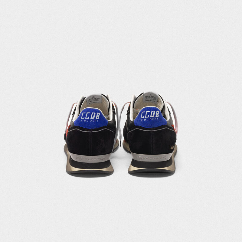 Golden Goose - Black Running sneakers with red star in  image number null