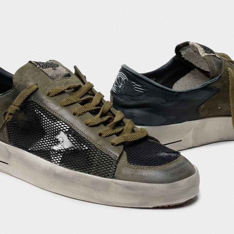 Golden Goose - Sneakers Stardan verde militare e nere in  image number null