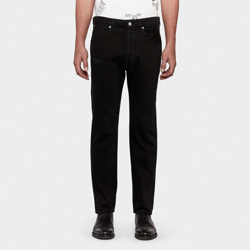 Golden Goose - Jeans Up relaxed fit in denim one wash in  image number null