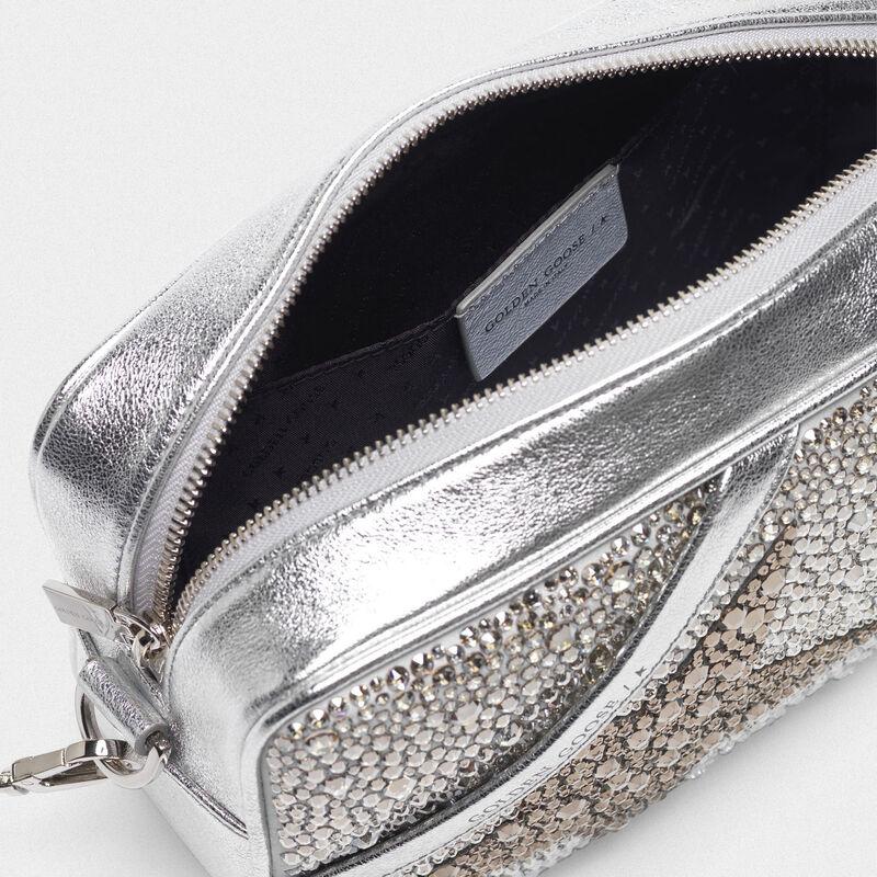 Golden Goose - Borsa Star Bag in pelle laminata con Swarovski  in  image number null