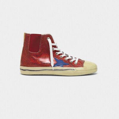 Sneakers V-Star con glitter e suola trattamento dip