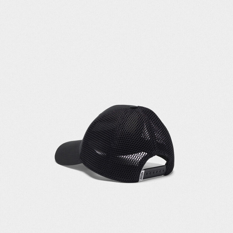 Golden Goose - Black Savannah baseball cap with embroidered logo in  image number null