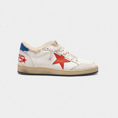 Sneakers Ball Star in pelle con inserto in shearling