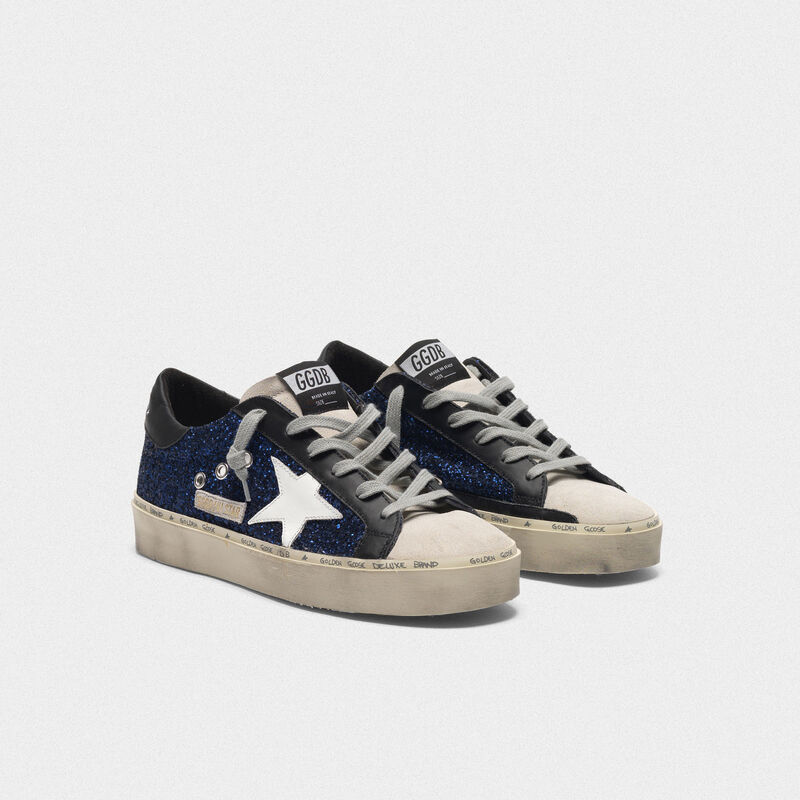 Golden Goose - Hi Star sneakers in suede with blue glitter in  image number null
