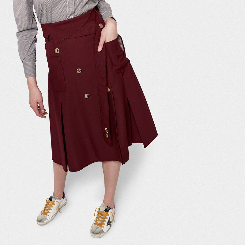 Golden Goose - Makiko skirt in technical fabric in  image number null