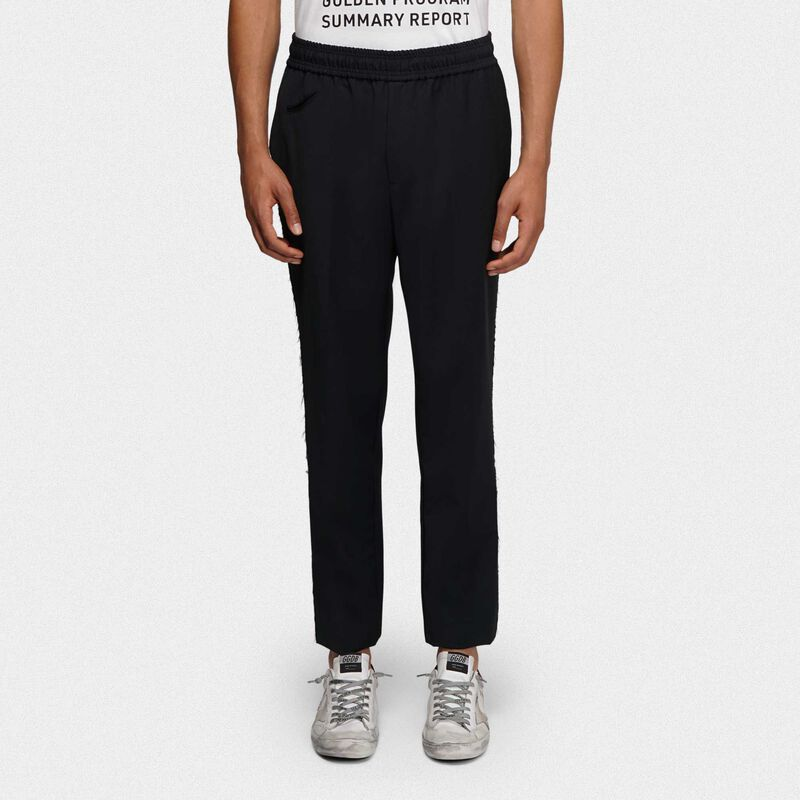 Golden Goose - Joggers Luke neri in lana in  image number null