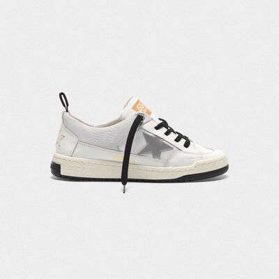 Sneakers Yeah! bianche con stella argento