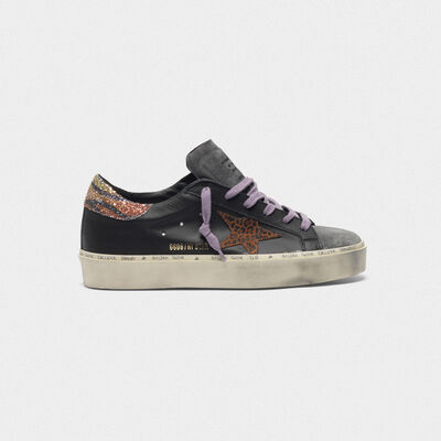 Hi Star sneakers with leopard-print star and glittery zebra-print heel tab