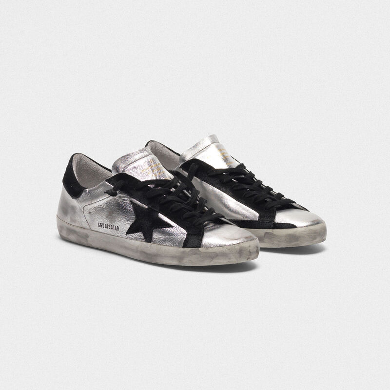 Golden Goose - Sneakers Superstar in pelle laminata in  image number null