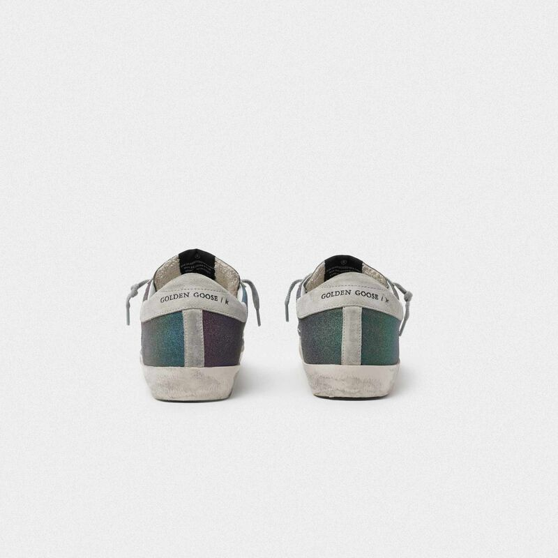 Golden Goose - Superstar sneakers with rainbow glitter in  image number null