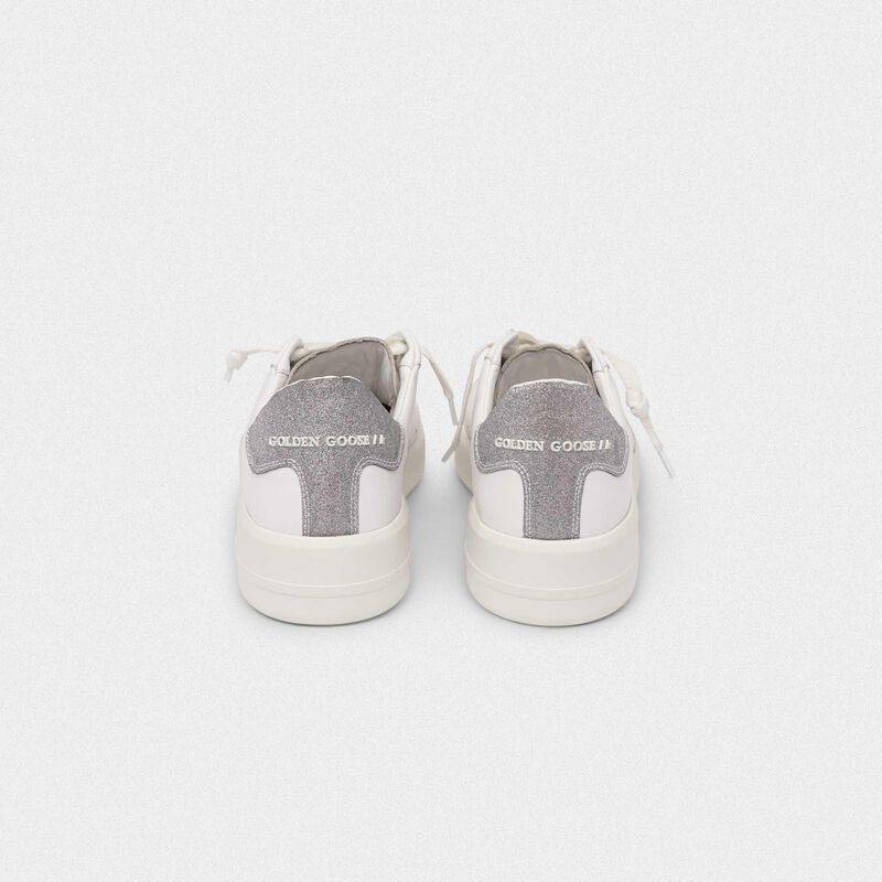 Golden Goose - PURESTAR sneakers with glittery silver heel tab in  image number null