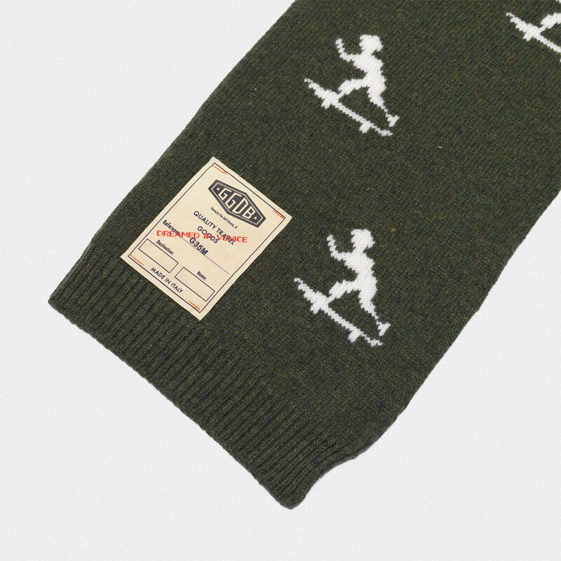 Golden Goose - Michio scarf made of wool with vintage logo label in  image number null