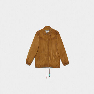 Ayumi jacket in suede leather with fringe