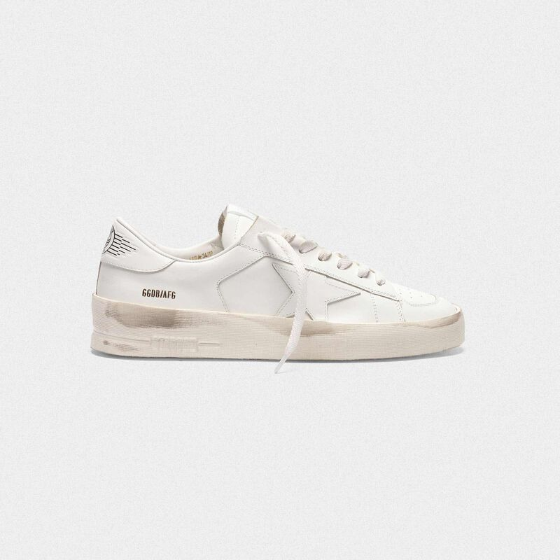 Golden Goose - Stardan sneakers in total white leather  in  image number null