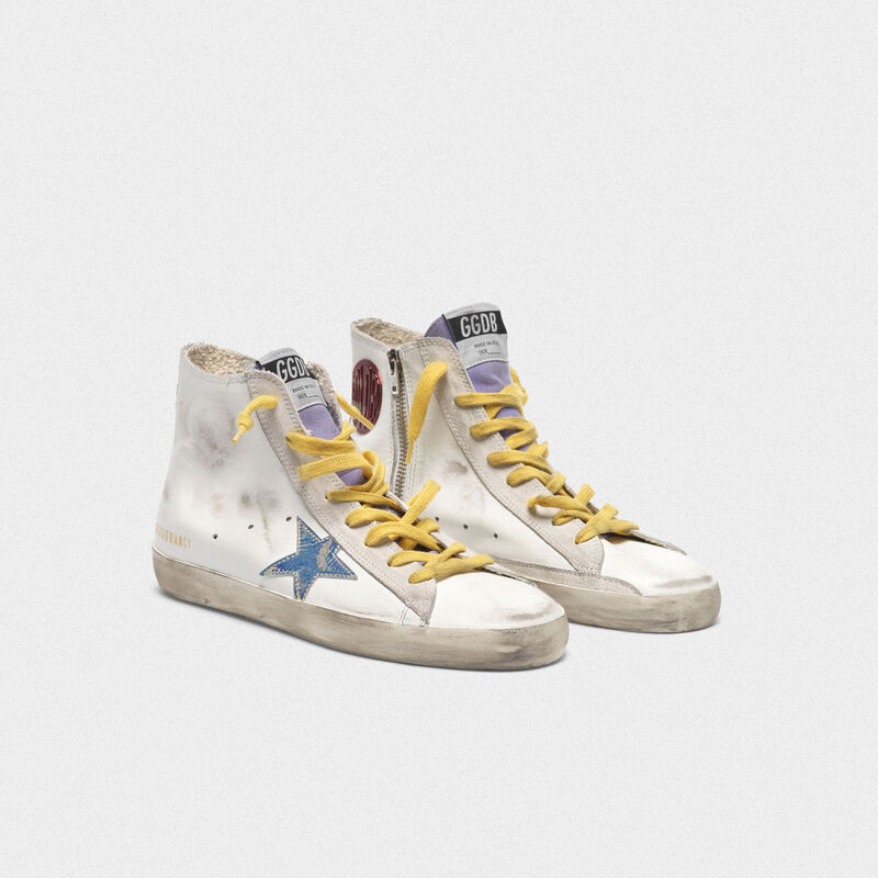 Golden Goose - Sneakers Francy con stella iridescente e bande in glitter in  image number null