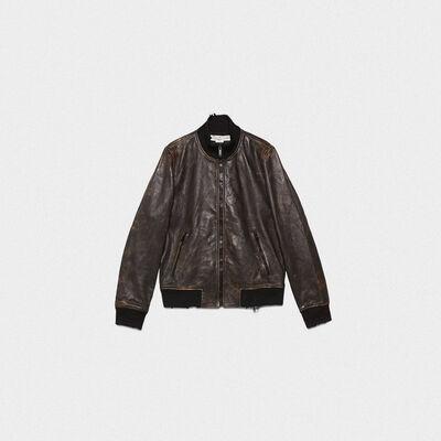 Sadao bomber jacket with maxi print on the back