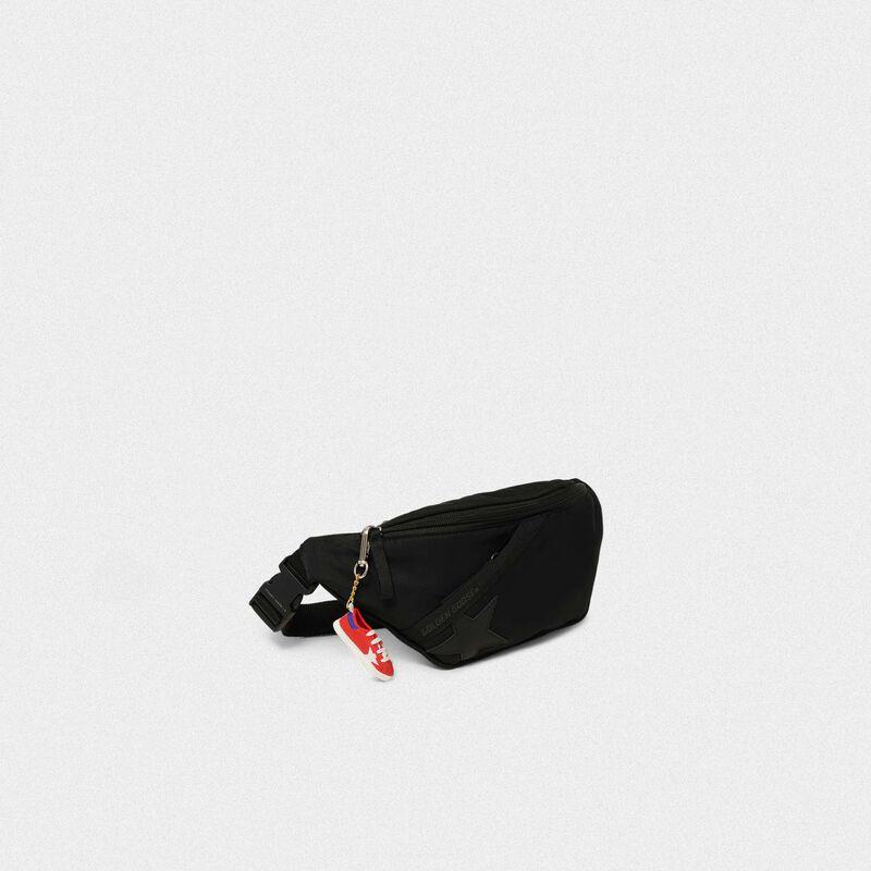 Golden Goose - Black nylon Journey belt bag in  image number null