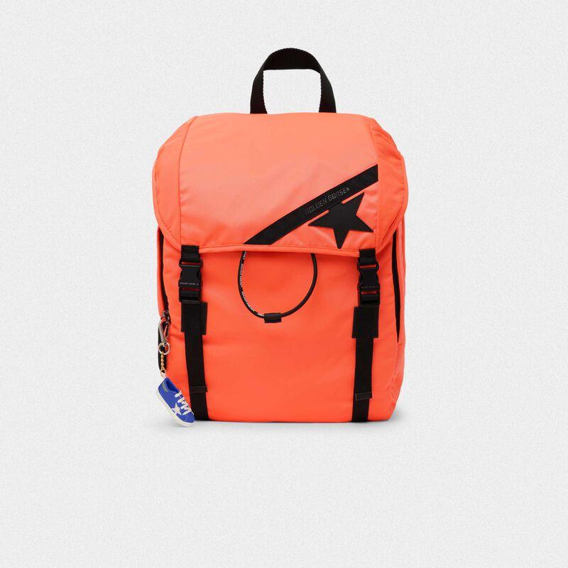 Golden Goose - Zaino Journey in nylon arancio fluo in  image number null