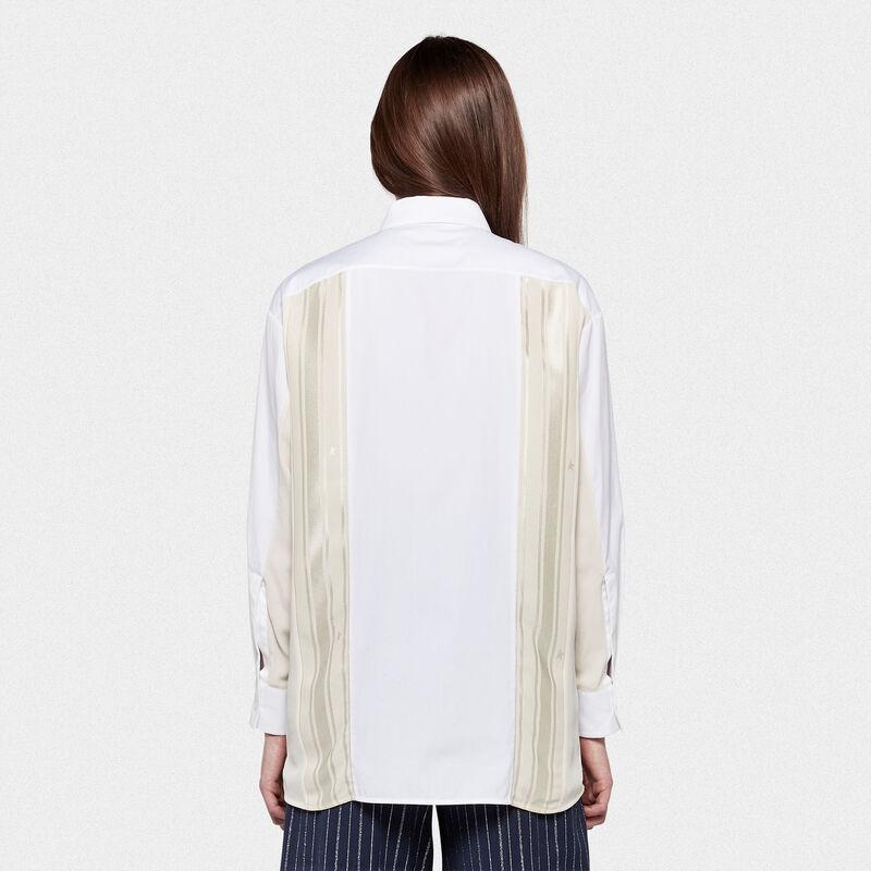Golden Goose - Camicia Susen in cotone con plissé e inserti in raso in  image number null