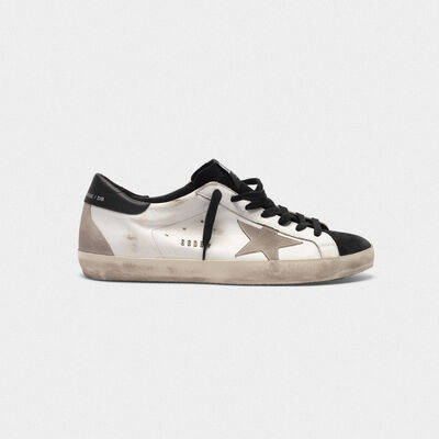 Superstar sneakers in smooth leather and contrast suede