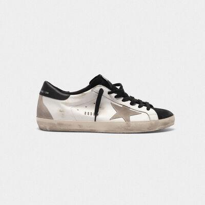 Sneakers Superstar in pelle liscia e suede a contrasto
