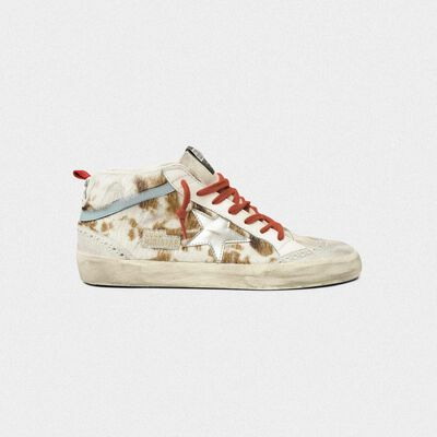 Sneakers Mid-Star in cavallino stampa muccata