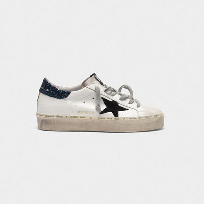 Hi Star sneakers in smooth leather and suede with glitter heel tab