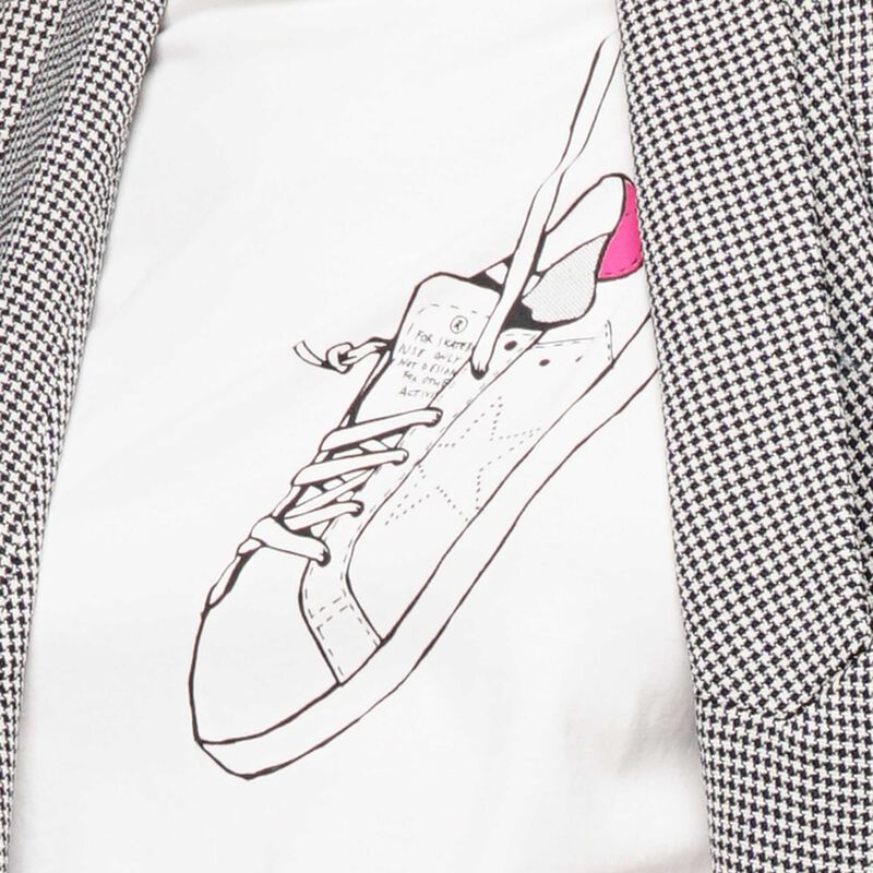 Golden Goose - T-shirt Golden con stampa d'archivio   in  image number null
