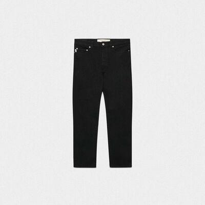 Jeans Lit slim fit in cotone nero elasticizzato