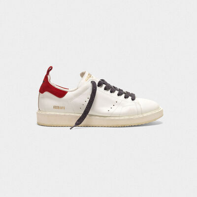 Starter sneakers with red suede heel tab