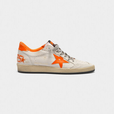 Ball Star sneakers in leather with dayglow details and lining