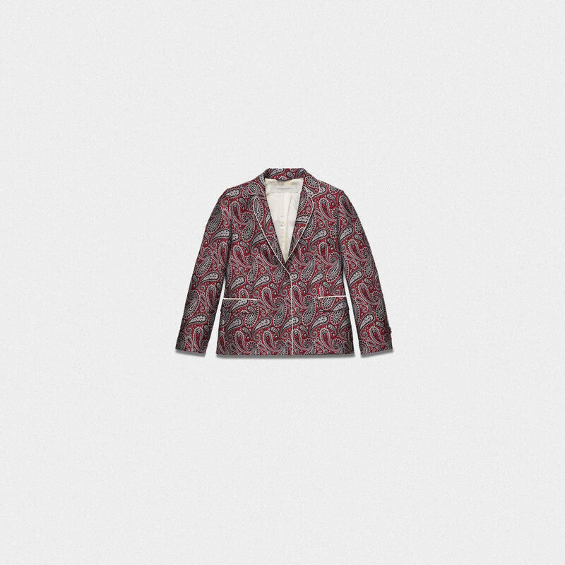Golden Goose - Giacca Venice in tessuto jacquard motivo paisley in  image number null