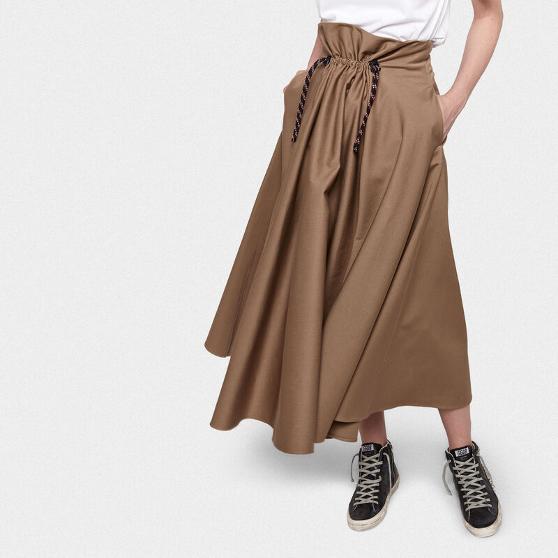 Golden Goose - Ayame skirt in taupe cotton in  image number null