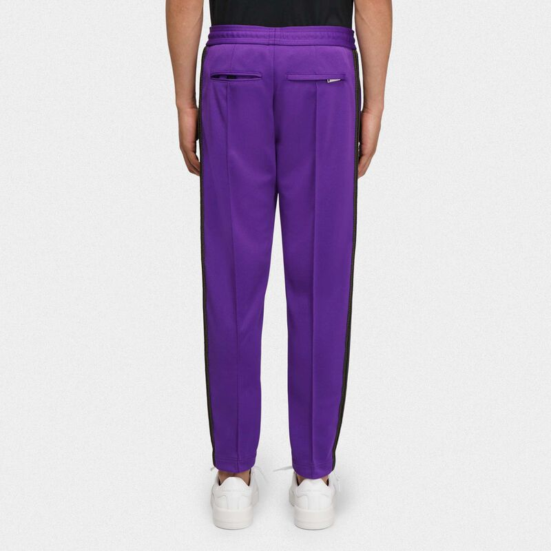 Golden Goose - Purple Daniel joggers in technical knit in  image number null