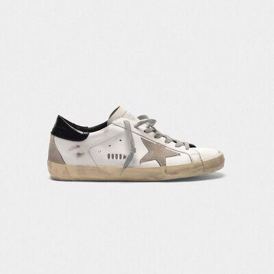 Sneakers Superstar in pelle con talloncino lucido