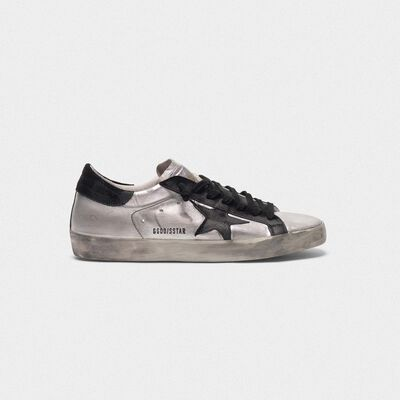 Sneakers Superstar in pelle laminata