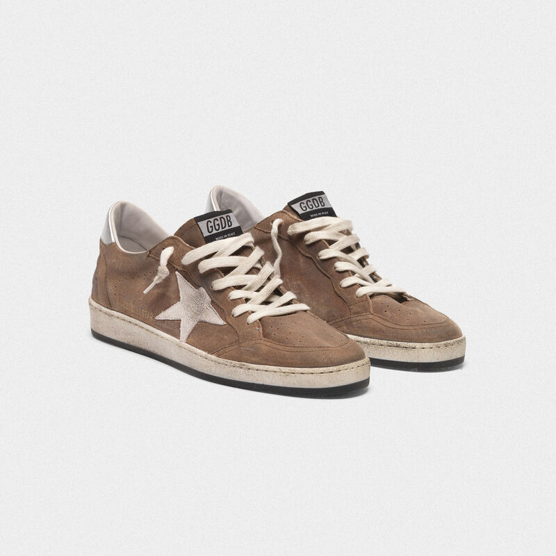 Golden Goose - Ball Star sneakers in suede with contrasting star and metal heel tab in  image number null
