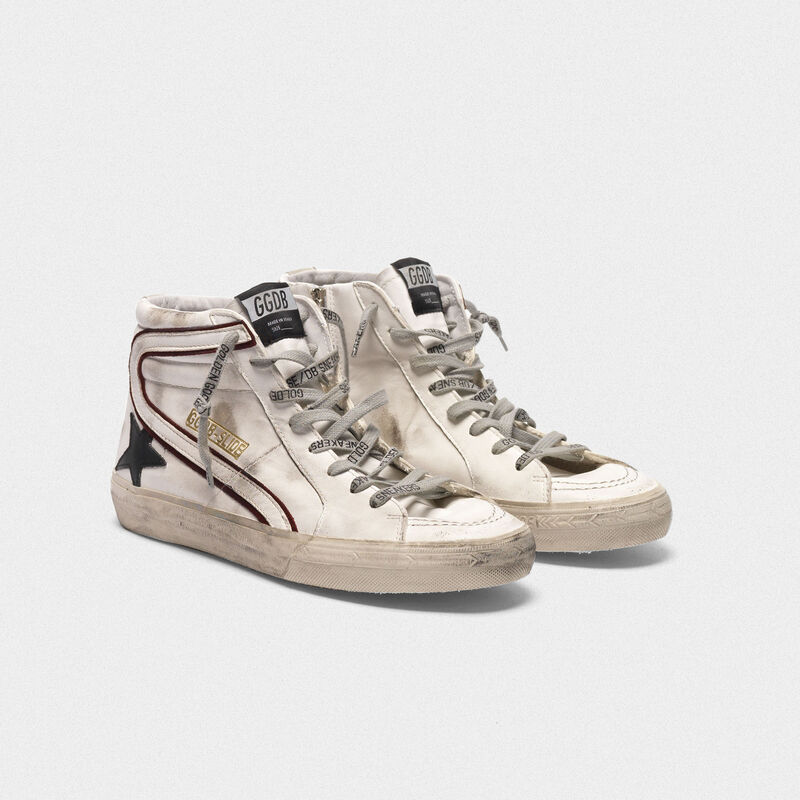 Golden Goose - White Slide sneakers with black star   in  image number null