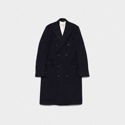 Cappotto doppiopetto Yukio in misto lana