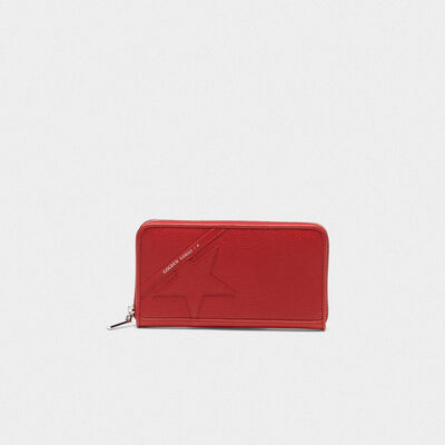 Large red Star Wallet